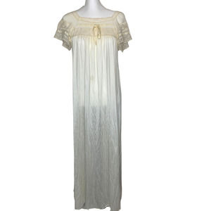 VINTAGE Lace Nylon Full Length Nightgown